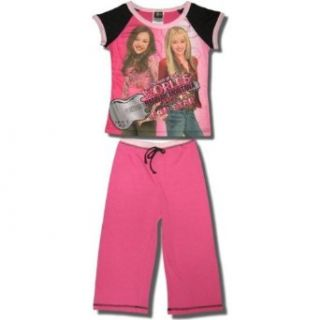 "Hannah Montana ""Best of Both Worlds"" Short Sleeve, Capri bottom pajamas   girls   7/8X Clothing"