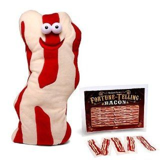 Talking Bacon Soft Plush Toy Doll w/ Magic Fortune Telling Strips Gift Set Toys & Games