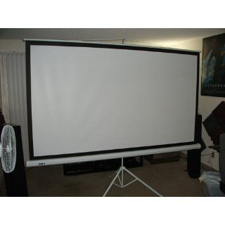 "FAVI 100 inch 43 Portable Tripod Projector Screen (80"" x  60"") Electronics"