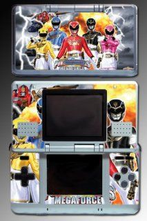 Power Rangers Megaforce Mighty Morphin Red Black Pink Yellow Blue Video Game Vinyl Decal Skin Protector Cover for Nintendo DS Video Games