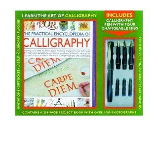 Kit The Practical Encyclopedia of Calligraphy Learn the Art of Calligraphy; a Fabulous Kit Box Containing a Step by step Instruction Book, a Calligraphy Pen, Ink, and Four Changeable Nibs (Mixed media product)   Common By (author) Janet Mehigan 0884253