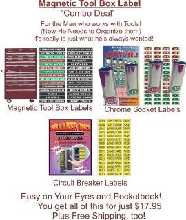 "Magnetic Tool Box Label ""Combo Deal"", for the Professional Mechanic This lot contains Magnetic Toolbox Labels, Chrome Socket Labels & Circuit Breaker Decals, makes a great gift for ""The Man who works with tools"" Best Quality at the"
