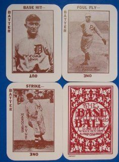 1913 Tom Barker National Game MLB Baseball Reprint of the Original 52 Card Issue Set. Contains 52 Sepia Toned Playing Cards, a Score Card and an Instruction Card  Sports & Outdoors