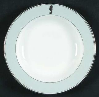 Waterford China Seahorse Ocean Large Rim Soup Bowl, Fine China Dinnerware   Gray