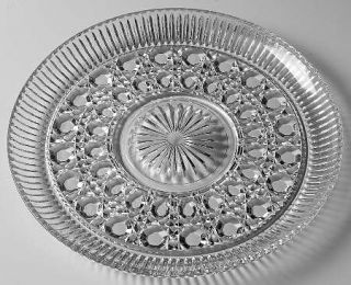 Indiana Glass Royal Brighton Cake Plate   Pressed, Cane Design, Giftware