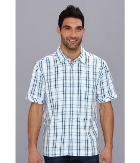 Quiksilver Waterman Seal Rocks S/S Shirt Mens Short Sleeve Button Up (Blue)