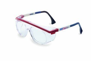 Uvex S2574 Astro Rx 3003 Safety Eyewear, Red/White/Blue Frame, Clear Lens   Safety Glasses