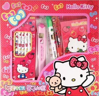 Sanrio Hello Kitty Stationery Set Pencil Ruler Notebook Etc Toys & Games