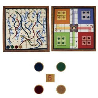2 in 1 Game Snake Ladder and Ludo Set on Either Side of Single Board Toys & Games