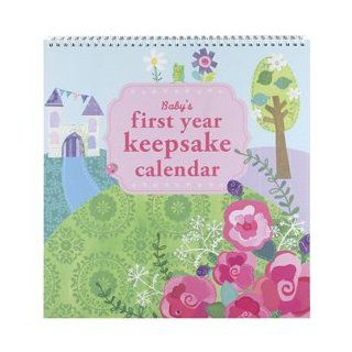 C.R. Gibson Enchanted Baby Girl Princess First Year Scrapbook Calendar Slipcased (Enchanted)  Baby Photo Albums  Baby