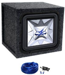 "Package Power Acoustik Psq 12w 12"" 1800 Watt Square Car Subwoofer with Top of the Line Quality Aluminum Voice Coil Former + Atrend Single 12"" Mdf Sealed Subwoofer Enclosure + Sub Enclosure Wire Kit with 14 Gauge Speaker Wire + Screws + Spade Ter"