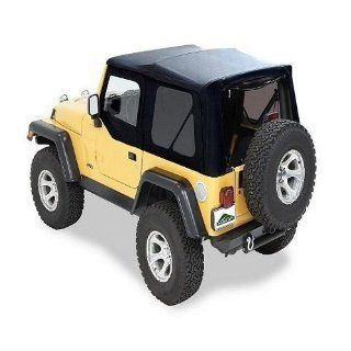 Pavement Ends(TM) 51146 35 Black Diamond Replay(TM) Replacement Soft Top Clear Windows No door skins included No frame hardware included  2003 2006 Jeep Wrangler (except Unlimited) Automotive