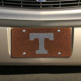NCAA Tennessee Volunteers Glitter License Plate   Tennessee Orange  Sports Related Tailgater Mats  Sports & Outdoors