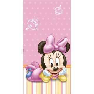 Baby Minnie Mouse 1st Birthday Table Cover   Minnie's First Birthday Party Plastic Tablecover Toys & Games