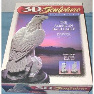 3D Sculpture Puzzle   The American Bald Eagle Toys & Games