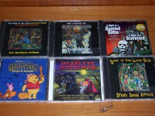 Halloween 6 pack bundle Walt Disney Halloween Songs and Sounds   Mickey, Goofy, Tigger, Winnie the Pooh, Piglet / A night in a Haunted House/A Night in a Graveyard / The Headless Horseman / The Legend of Sleepy Hollow / Swamp of the Living Dead (Spooky So