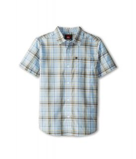 Quiksilver Kids Engineer Pat S/S Button Up Boys Short Sleeve Button Up (Blue)