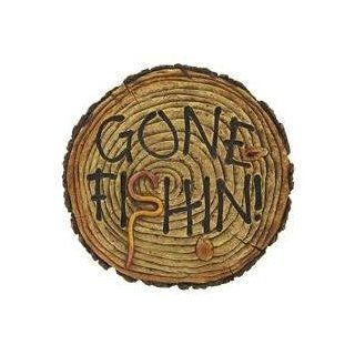 GONE FISHIN Fishing Wall Art Plaque Sign   MAN CAVE   Switch Plates