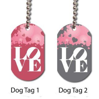 His and Hers Valentines Day Love Dog Tags   Find a new way to celebrate your love on Valentines Day Sports & Outdoors