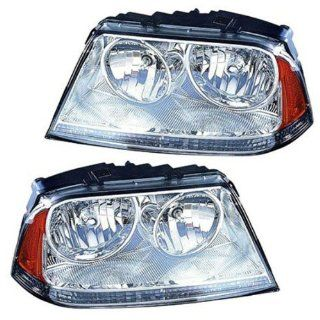 2003 2004 2005 Lincoln Aviator Headlight Headlamp Composite (HID Xenon with Ballast) Front Head Light Lamp Set Pair Left Driver And Right Passenger Side (03 04 05) Automotive