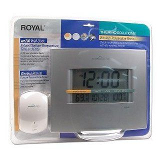 Royal Wc200 Wall Clock Wireless Indoor/outdoor Thermometer  Weather Stations  Patio, Lawn & Garden