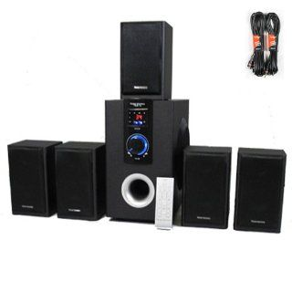 Theater Solutions 5.1 Speaker System Home Theater Surround with Bluetooth and Two 25' Extension Cables TS515B 2 Electronics
