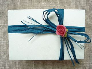 wedding favour gift box large by taylor's truffles