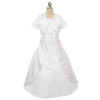 Rain Kids White Beaded Detail Special Occasion Dress Girls 4 20 The Rain Kids Clothing