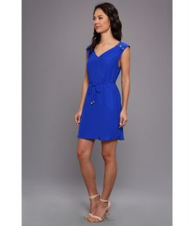 Amanda Uprichard 6 Button Dress Royal