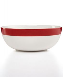 Martha Stewart Collection Classic Band Red 4 Piece Place Setting   Casual Dinnerware   Dining & Entertaining