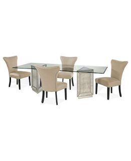 Sophia Dining Room Furniture, 5 Piece Set (96 Table and 4 Side Chairs)   Furniture