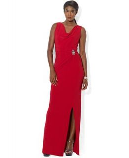 Lauren Ralph Lauren Sleeveless Cowl Neck Jersey Gown   Dresses   Women