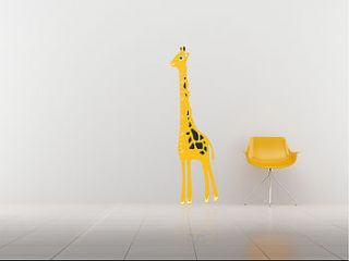 kids giraffe height chart wall sticker by the binary box