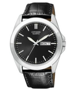 Citizen Mens Eco Drive Black Croc Embossed Leather Strap Watch 40mm AU1040 08E   Watches   Jewelry & Watches