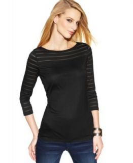 MICHAEL Michael Kors Long Sleeve Peasant Top & Skinny Jeans   Women