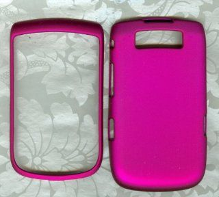RUBBERIZED HOT PINK PHONE COVER BlackBerry Torch 9800 AT&T HARD CASE Cell Phones & Accessories