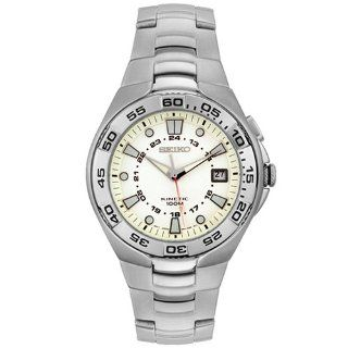 Seiko Men's SKA221 Kenetic Stainless Steel Watch Seiko Watches