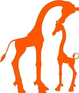 Design with Vinyl Design 221 Giraffe   Animal Sticker   Vinyl Wall Decal, 20 Inch By 26 Inch, Orange