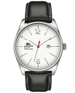 Lacoste Watch, Mens Austin Black Leather Strap 44mm 2010680   Watches   Jewelry & Watches