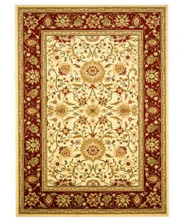 MANUFACTURERS CLOSEOUT Safavieh Area Rug, Lyndhurst LNH212 Ivory/Red 9 x 12   Rugs