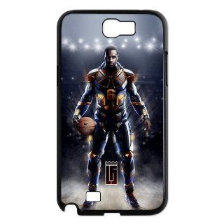 Diystore Miami Heat star LeBron James Samsung Galaxy Note 2 N7100 Hard Cover Case Cell Phones & Accessories