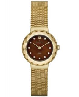 Skagen Denmark Watch, Womens Rose Gold Tone Stainless Steel Mesh Bracelet 32mm 922SRRR   Watches   Jewelry & Watches