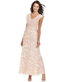 Patra Cap Sleeve Embroidered Lace Gown   Dresses   Women