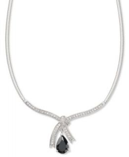 B. Brilliant Sterling Silver Necklace, Cubic Zirconia Triple Drop Pendant (24 3/8 ct. t.w.)   Necklaces   Jewelry & Watches