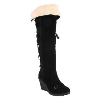 RADIANT SENSI Women's New Fashion Stiletto High Heel Shoe Winter Knee High Boots Shoes