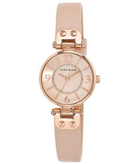 Anne Klein Womens Blush Leather Strap Watch 26mm 10 9442 RGLP   Watches   Jewelry & Watches
