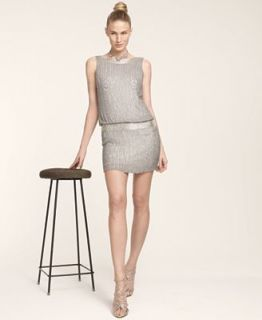 Adrianna Papell Sleeveless Beaded Blouson Dress   Dresses   Women