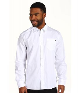Volcom Why Factor Solid L/S Shirt Mens Long Sleeve Button Up (White)
