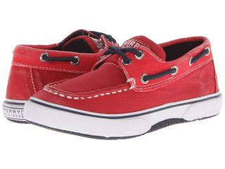 Sperry Top Sider Kids Halyard Boys Shoes (Red)