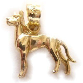 14k Yellow Gold 3D Great Dane Dog Dazzlers Charm 2022 Jewelry